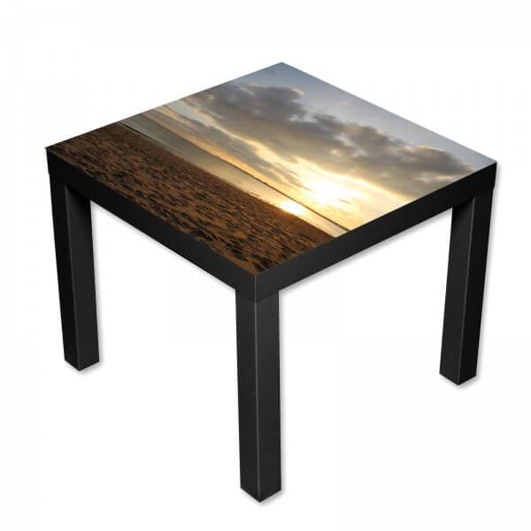 Beistelltisch Couchtisch mit Motiv Natur Sonnenuntergang auf Sylt