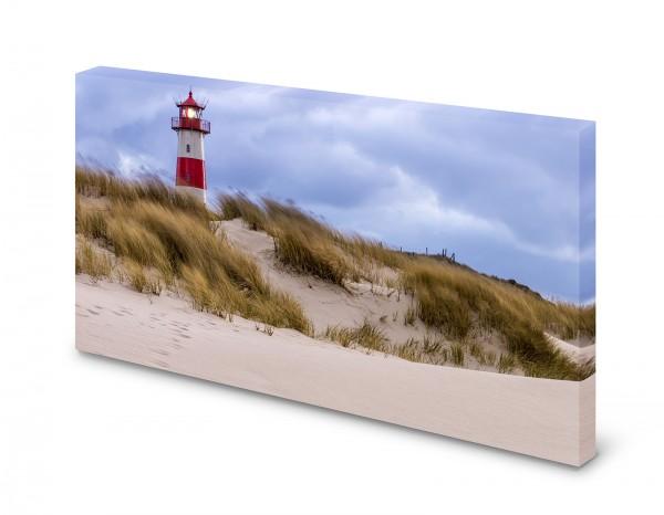Magnettafel Pinnwand Bild Leuchtturm Strand Düne XXL gekantet