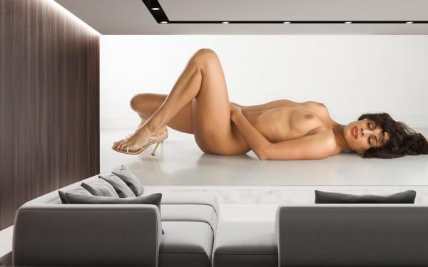Vlies Tapete XXL Poster Fototapete Panorama Erotik sexy Lady singel