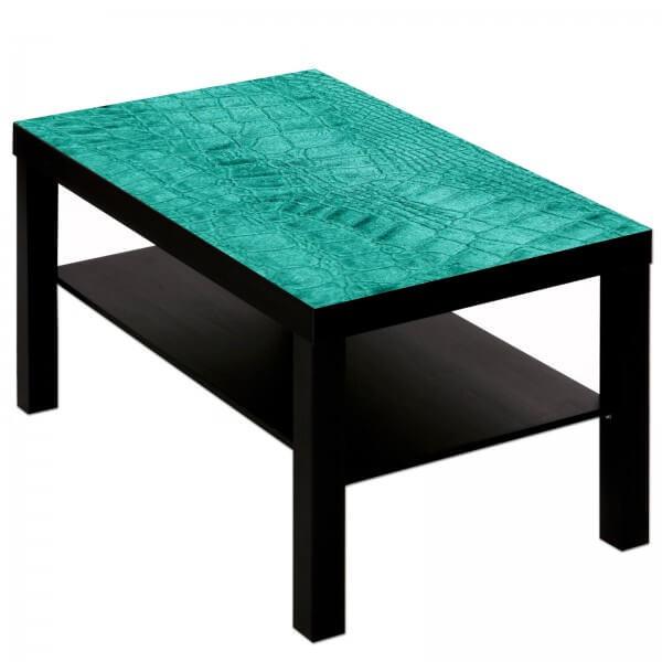 Couchtisch Tisch mit Motiv Bild Muster Schlangenleder 2