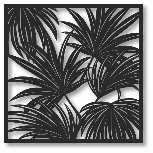 Bild Wandbild 3D Wandtattoo Acryl Mobile Palmen Palmenblatt Abstrakt