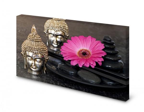Magnettafel Pinnwand Bild Buddha Steine Orchidee Zen gekantet
