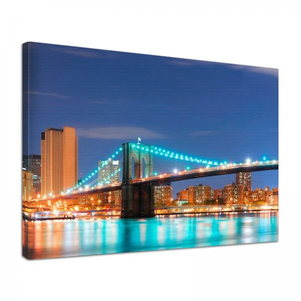Leinwand Bild edel New York City Brooklyn Bridge