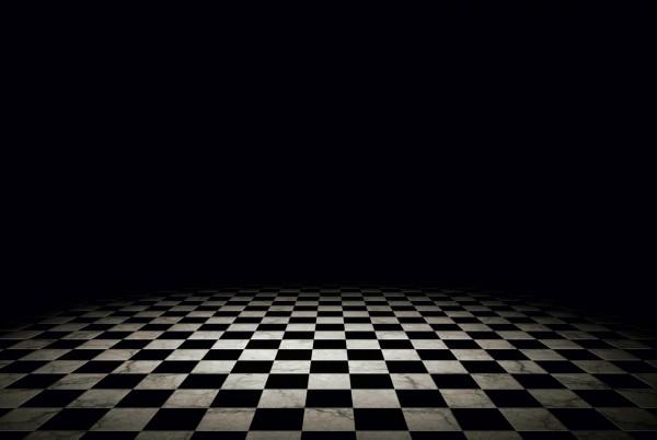 Magnettafel Pinnwand XXL Bild Muster Fliesen schwarz weiss