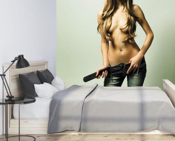 Vlies Tapete XXL Poster Fototapete Erotik Jeans Girl