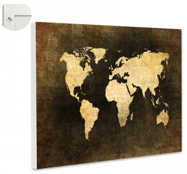 Magnettafel Pinnwand Magnetwand Weltkarte Antik Landkarte