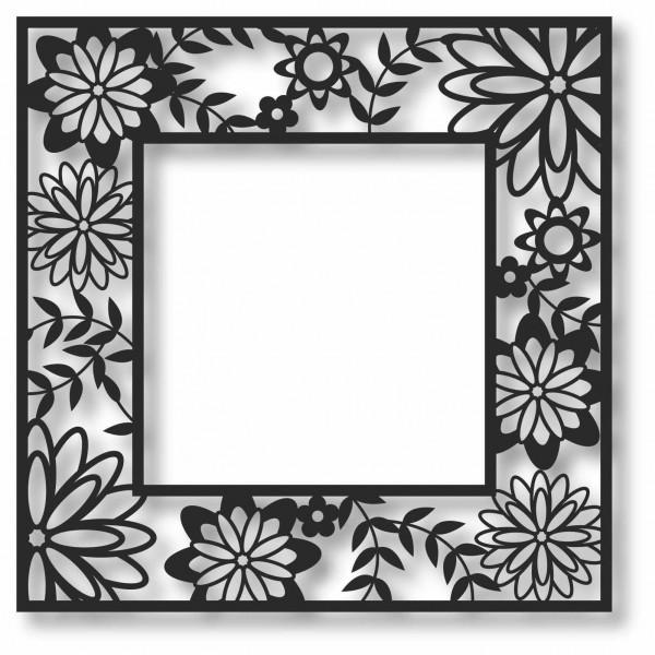Bild Wandbild 3D Wandtattoo Acryl Mobile Abstrakt Rahmen Blumen