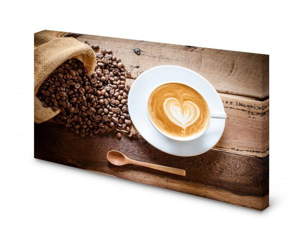 Magnettafel Pinnwand Bild Cappuccino Milchkaffee Kaffee XXL gekantet