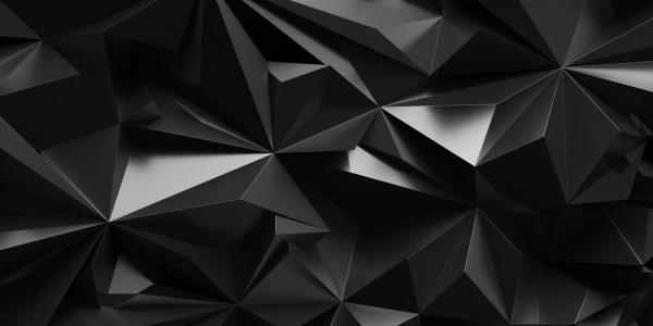 Magnettafel Pinnwand Bild XXL Panorama 3D Zacken anthrazit