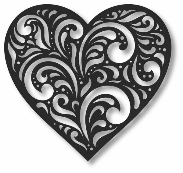 Bild Wandbild 3D Wandtattoo Acryl Mobile Herz Heart Love Muster