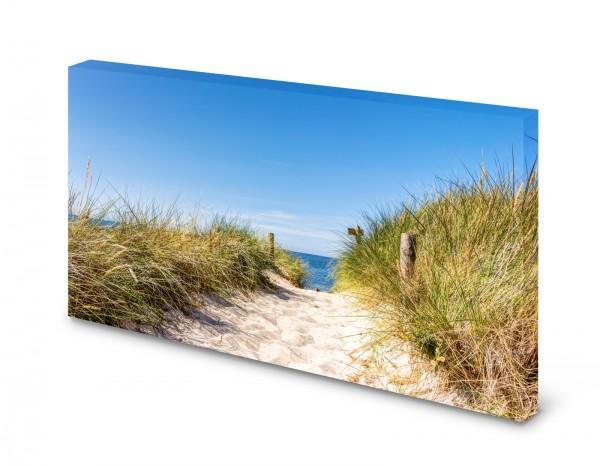 Magnettafel Pinnwand Bild Natur Düne Weg Strand gekantet