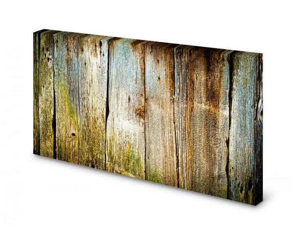 Magnettafel Pinnwand Bild Holz Holzbretter Holzplanken grün