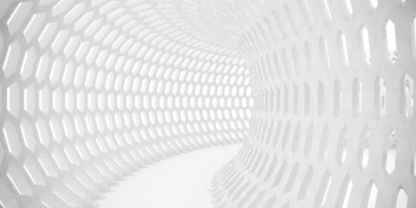 Vlies Tapete XXL Poster Fototapete 3D Effekt Röhre weiss