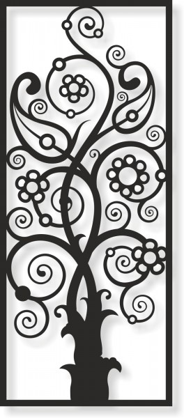 Bild Wandbild Wandtattoo Acryl Mobile Baum Zauberbaum Fantasie