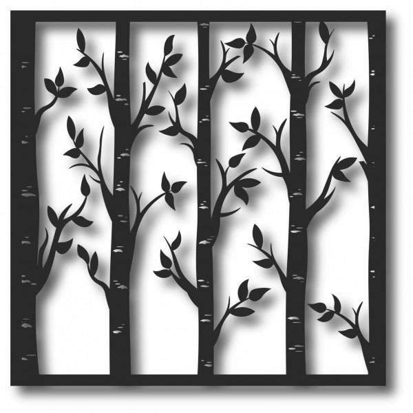 Bild Wandbild 3D Wandtattoo Acryl Mobile Bäume Birken Bäumchen