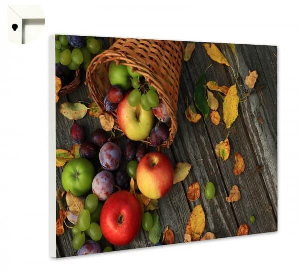Magnettafel Pinnwand Küche Herbst Äpfel Holz
