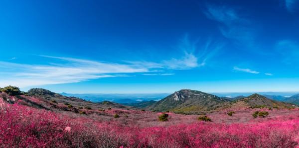 Magnettafel Pinnwand Bild XXL Panorama Korea Gebirge