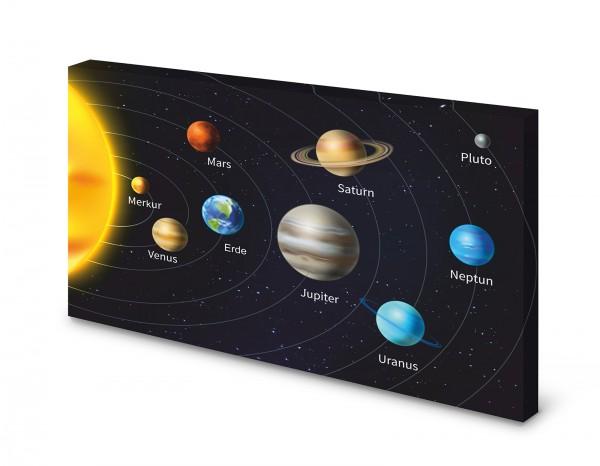 Magnettafel Pinnwand Bild Weltall Planeten Sonne XXL gekantet