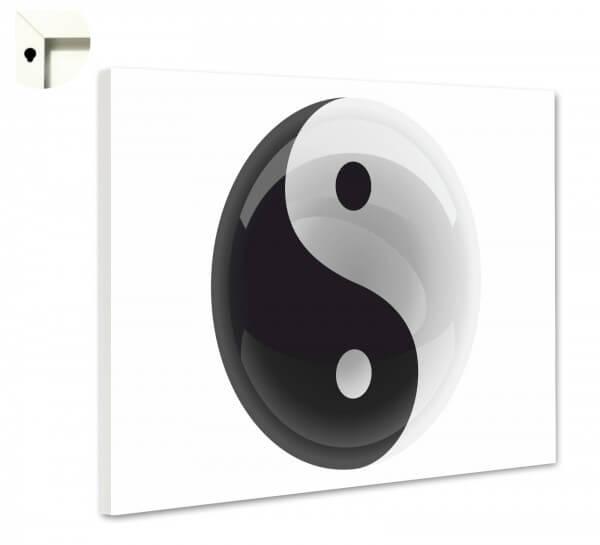 Magnettafel Pinnwand Ying Yang