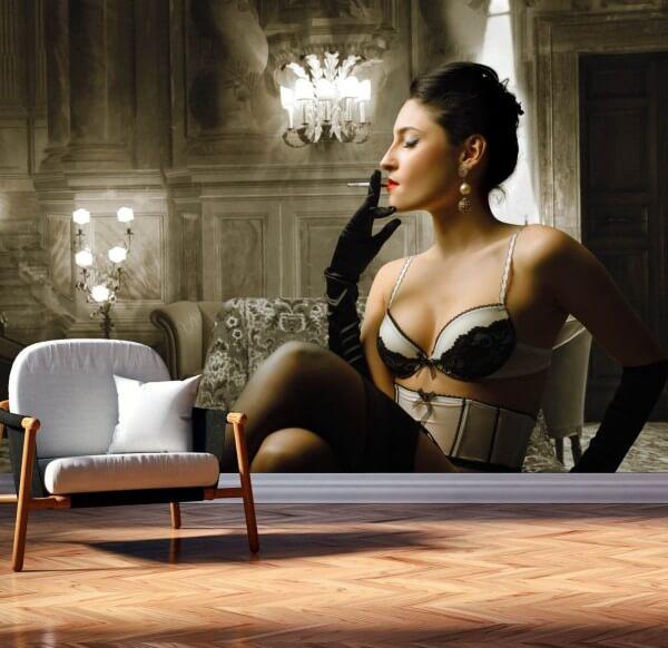 Vlies Tapete XXL Poster Fototapete Erotik Moulin Rouge