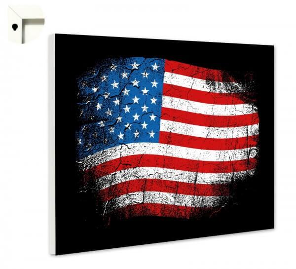 Magnettafel Pinnwand mit Motiv Flagge Fahne USA Amerika