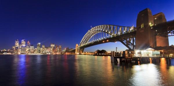 Magnettafel Pinnwand Bild XXL Panorama Sydney Skyline Australien