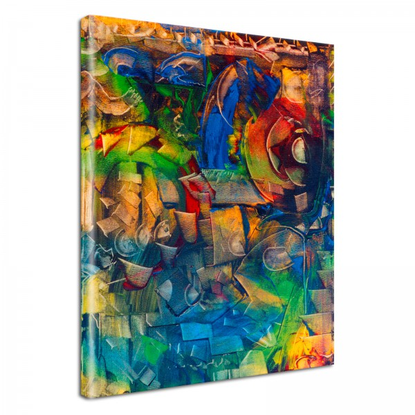 Leinwandbild Gemälde Abstrakt