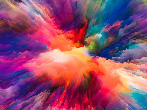 Vlies Tapete Poster XXL Fototapete 3D Muster Farben bunt Wolken Staub