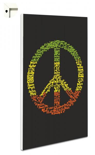 Magnettafel Pinnwand Peace