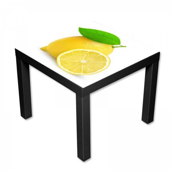 Beistelltisch Couchtisch mit Motiv Gelbe Zitronen