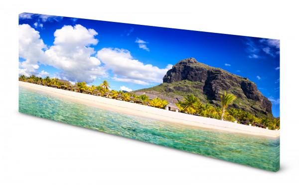 Magnettafel Pinnwand Bild Panorama Mauritius gekantet