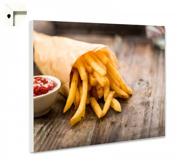 Magnettafel Pinnwand Küche Pommes mit Ketchup