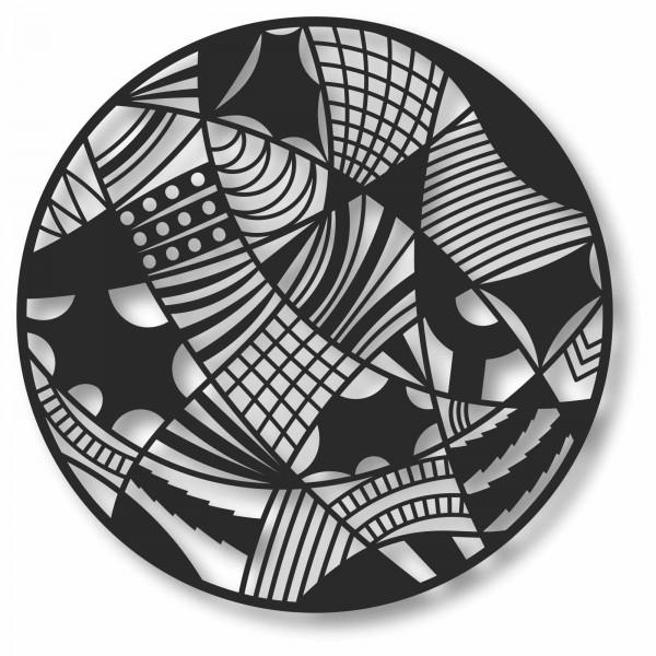 Bild Wandbild Kreisbild 3D Acryl Mobile Muster Kunst Deko Abstrakt