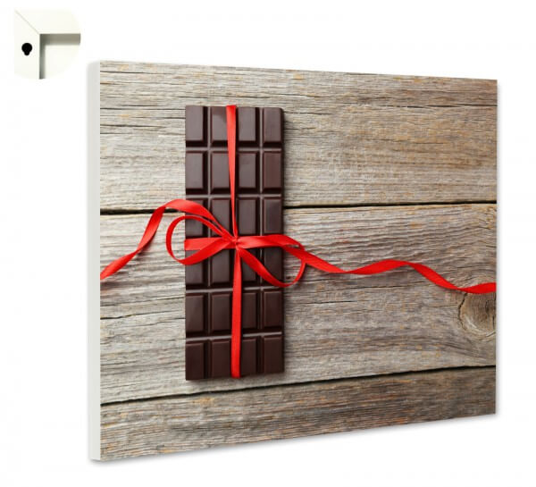 Magnettafel Pinnwand mit Motiv Küche Tafel SchokoladeHolz