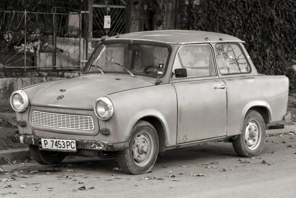 Magnettafel Pinnwand XXL Bild Trabi Auto Polen