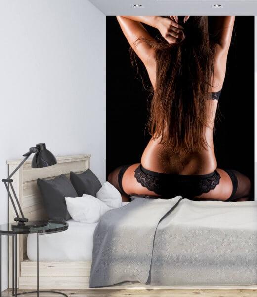Vlies Tapete XXL Poster Fototapete Erotik Black Dessous