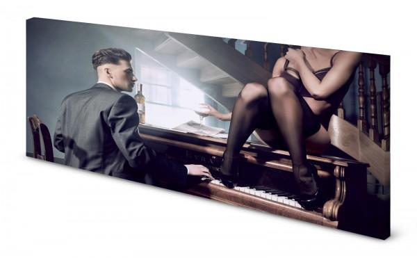 Magnettafel Pinnwand Bild Retro 80er Piano Bar gekantet