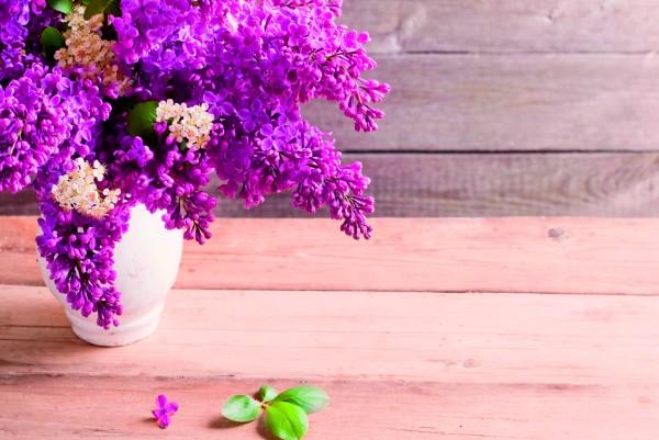 Magnettafel Pinnwand XXL Bild Blumen Flieder lila Holz