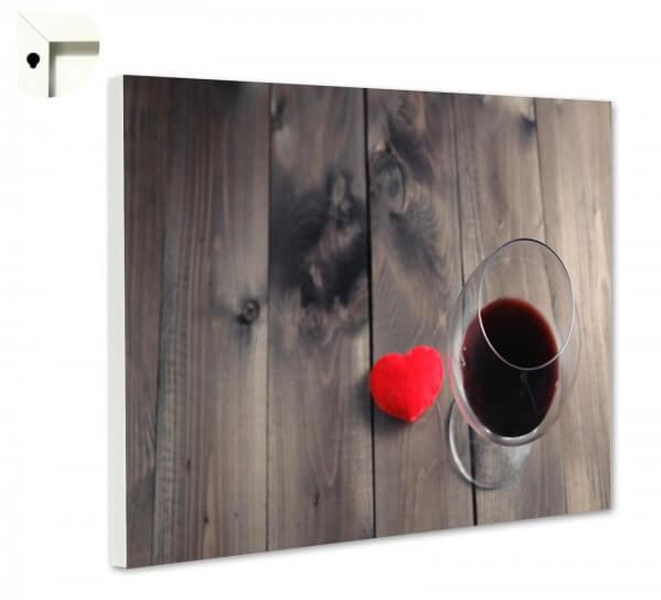 Magnettafel Pinnwand Rotwein Holz Rustikal