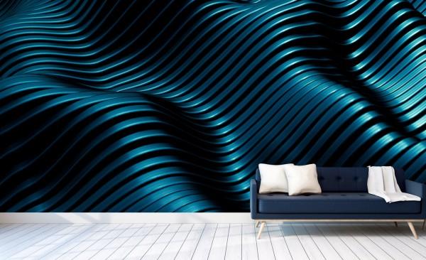 Vlies Tapete Poster XXL Fototapete 3D Effekt Aquamarine Metall