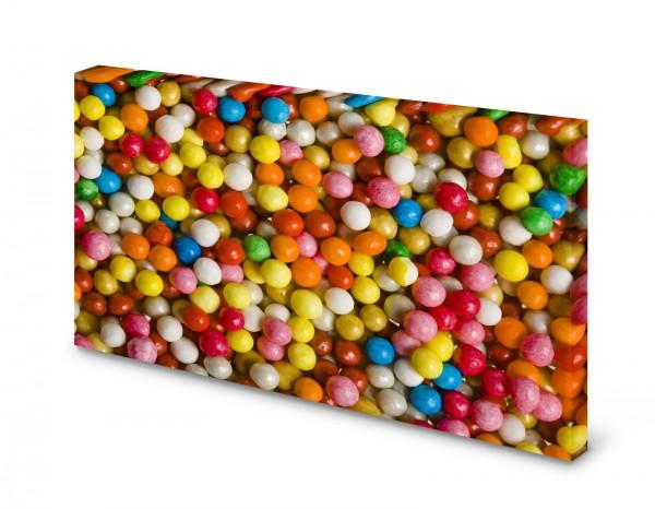 Magnettafel Pinnwand Bild Bonbons Drops bunt XXL gekantet