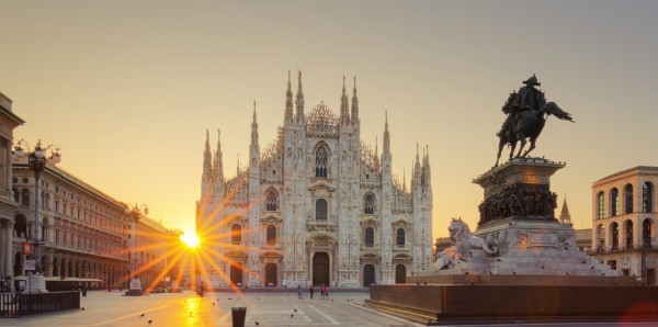 Magnettafel Pinnwand Bild XXL Panorama Mailand Italien Dom