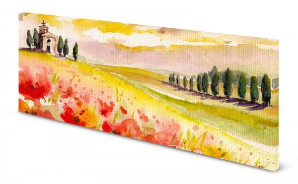 Magnettafel Pinnwand Bild Panorama Aquarell Malerei gekantet