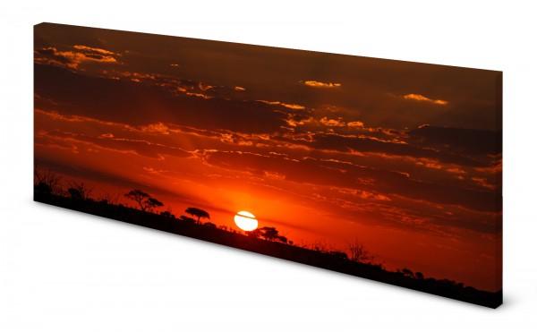 Magnettafel Pinnwand Bild Natur Aufgehende Sonne Horizont gekantet