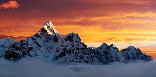 Magnettafel Pinnwand Bild Panorama Ama Dablam Everest Gipfel