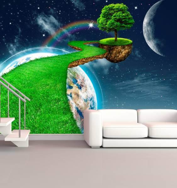 XXL Poster Fototapete Tapete Vlies Grünes Universum