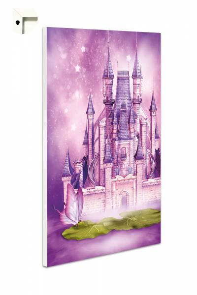 Magnettafel Pinnwand Kinder Märchen Schloss in lila