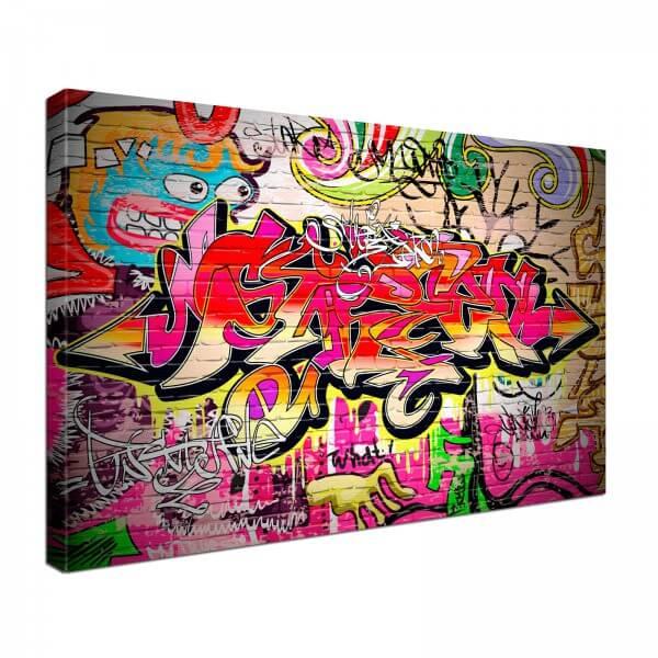 Leinwand Bild edel Grafitti Pop Art