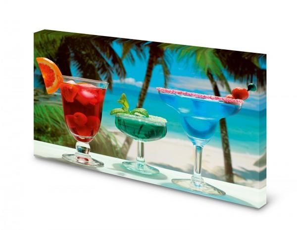 Magnettafel Pinnwand Bild Cocktail Strand Bar XXL gekantet