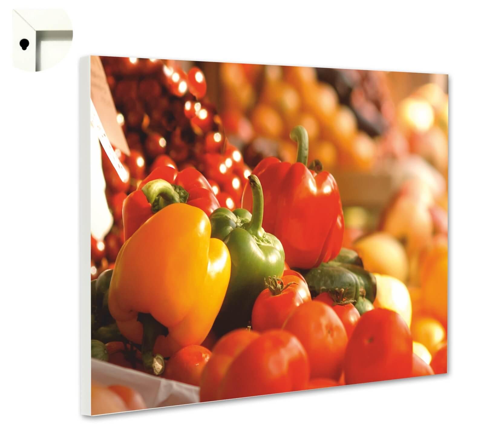 Magnettafel Pinnwand mit Motiv Küche Essen /& Trinken Veggie